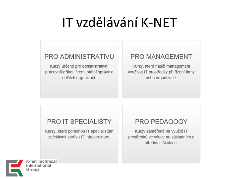 IT vzdělávání K-NET