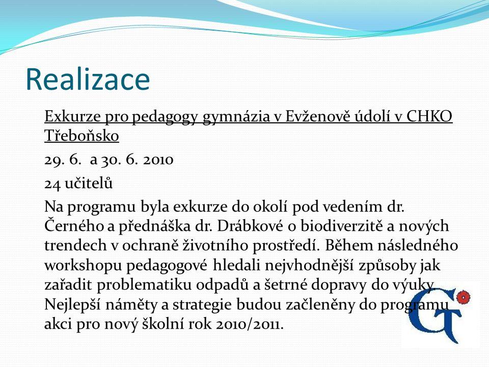 Realizace Exkurze pro pedagogy gymnázia v Evženově údolí v CHKO Třeboňsko 29.