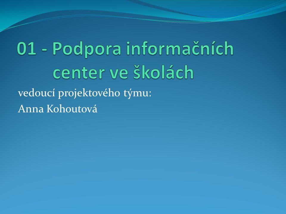 vedoucí projektového týmu: Anna Kohoutová
