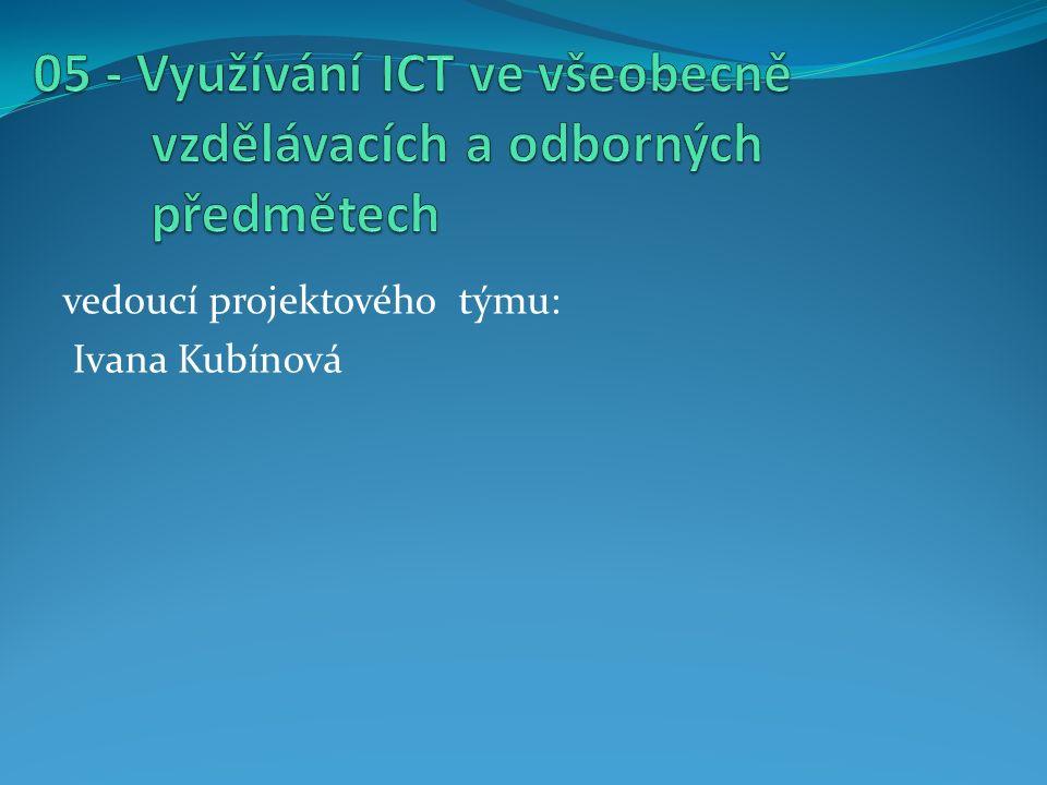 vedoucí projektového týmu: Ivana Kubínová