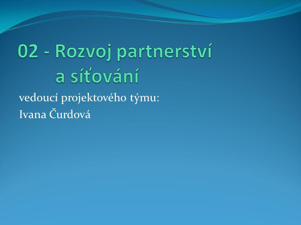 vedoucí projektového týmu: Ivana Čurdová