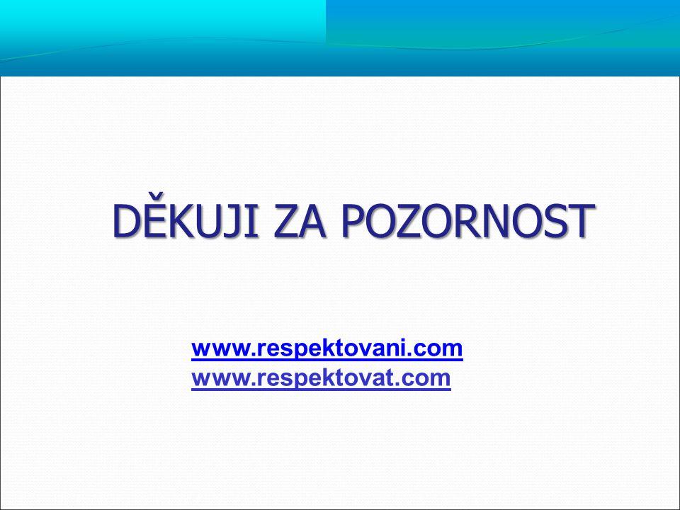 DĚKUJI ZA POZORNOST www.respektovani.com www.respektovat.com