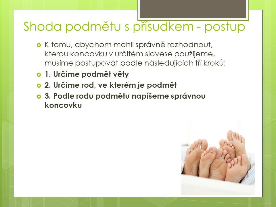 Shoda přísudku s několikanásobným podmětem  V českém jazyce má rod mužský životný mluvnickou přednost.