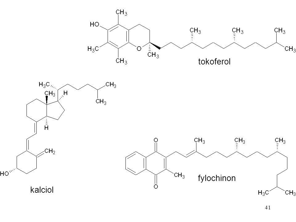 41 tokoferol kalciol fylochinon