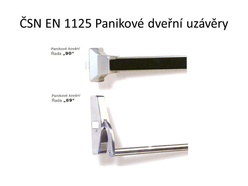 ČSN EN 1125 Panikové dveřní uzávěry