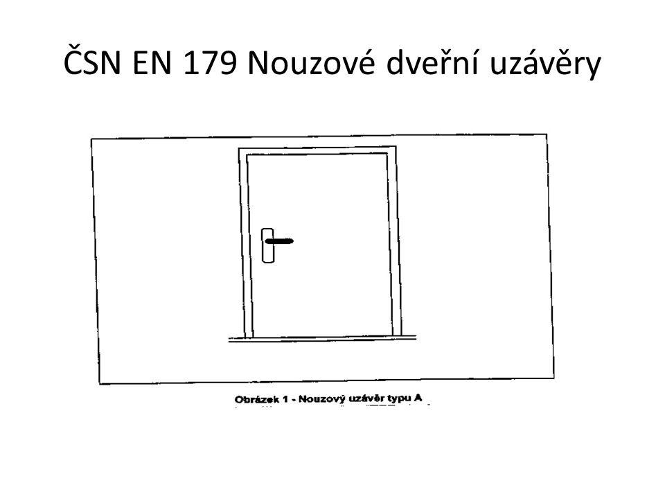 ČSN EN 179 Nouzové dveřní uzávěry