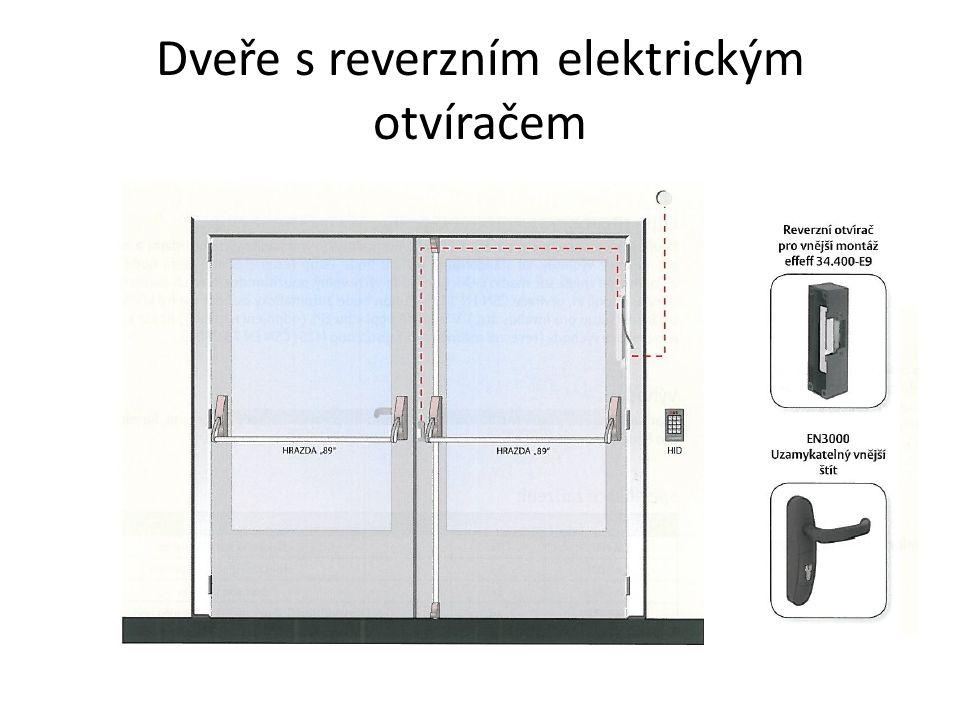 Dveře s reverzním elektrickým otvíračem