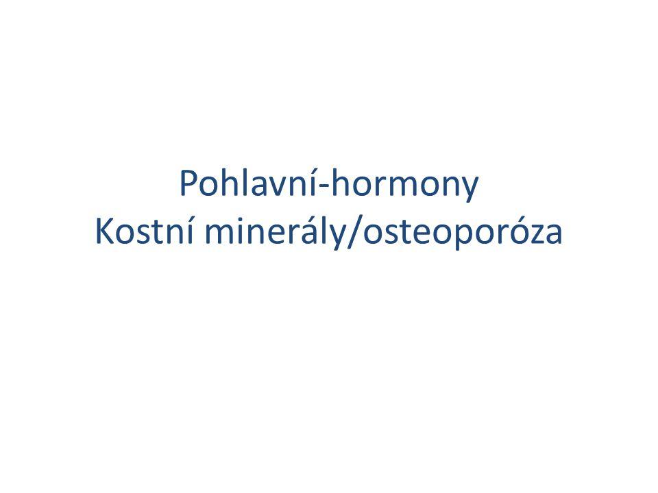 Pohlavní-hormony Kostní minerály/osteoporóza