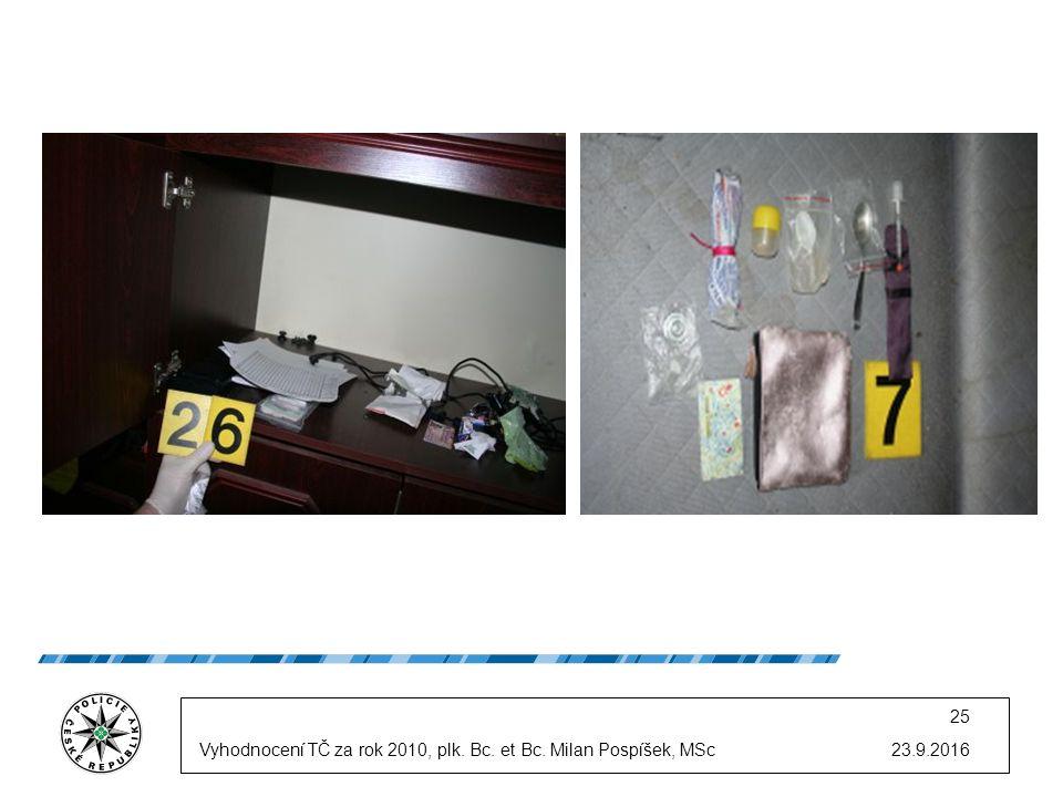 23.9.2016 25 Vyhodnocení TČ za rok 2010, plk. Bc. et Bc. Milan Pospíšek, MSc