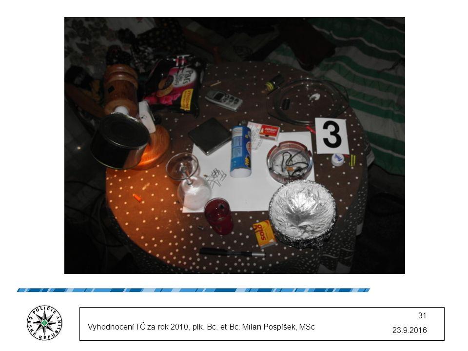 23.9.2016 31 Vyhodnocení TČ za rok 2010, plk. Bc. et Bc. Milan Pospíšek, MSc