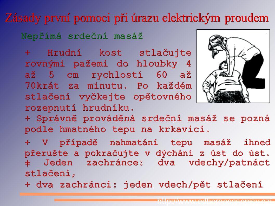 Zásady první pomoci při úrazu elektrickým proudem http://www.odbornecasopisy.cz/
