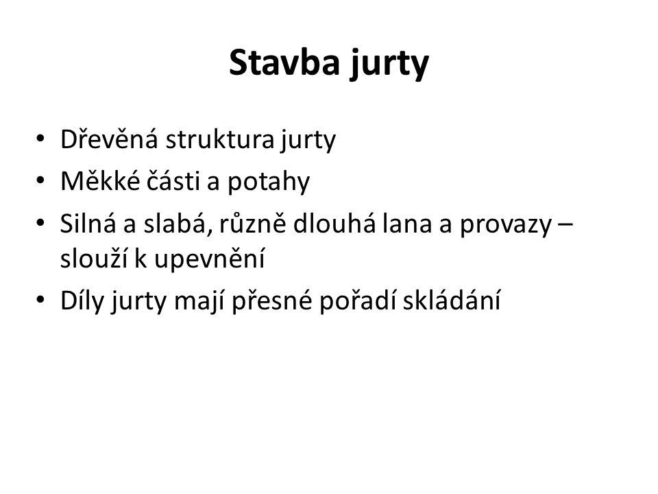 """Dřevěná konstrukce jurty """"geriin mod 1.Chana – stěny 2."""