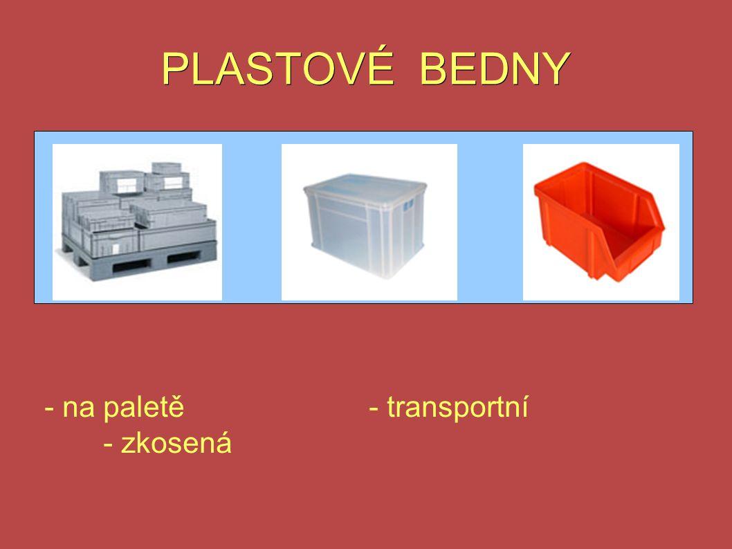 PLASTOVÉ BEDNY - na paletě- transportní - zkosená