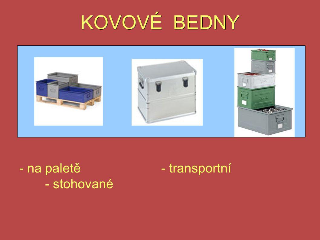KOVOVÉ BEDNY - na paletě- transportní - stohované