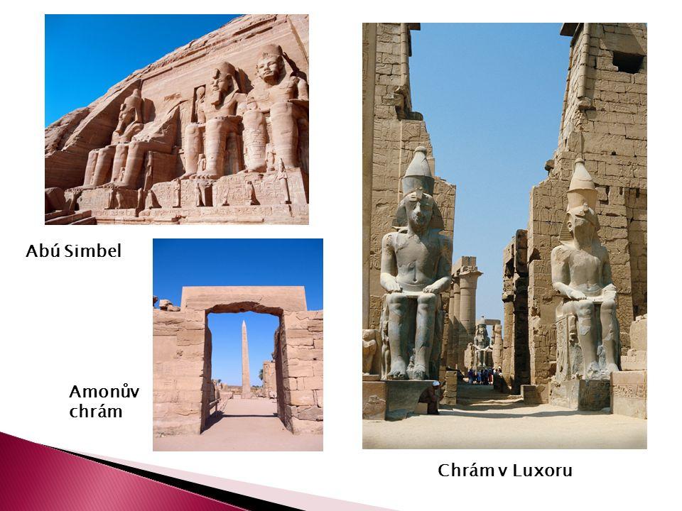 Chrám v Luxoru Abú Simbel Amonův chrám