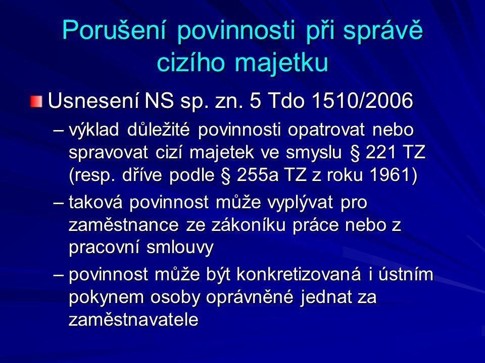 Podvod Usnesení NS sp.zn. 6 Tdo 1576/2010 možnost spáchání trestného činu podvodu, resp.