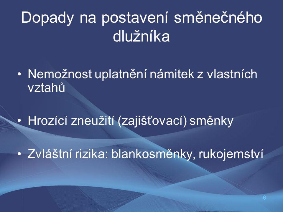 7 Paliativum čl.I § 17 SŠZ.