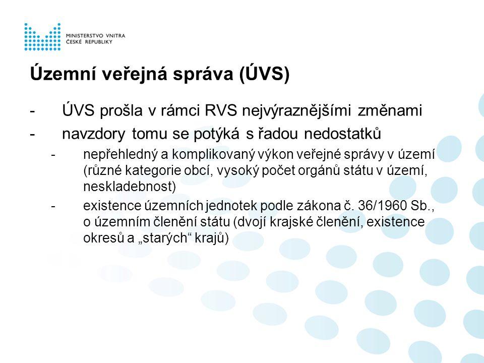 Koncepce dokončení reformy veřejné správy bod II.1a) usnesení č.