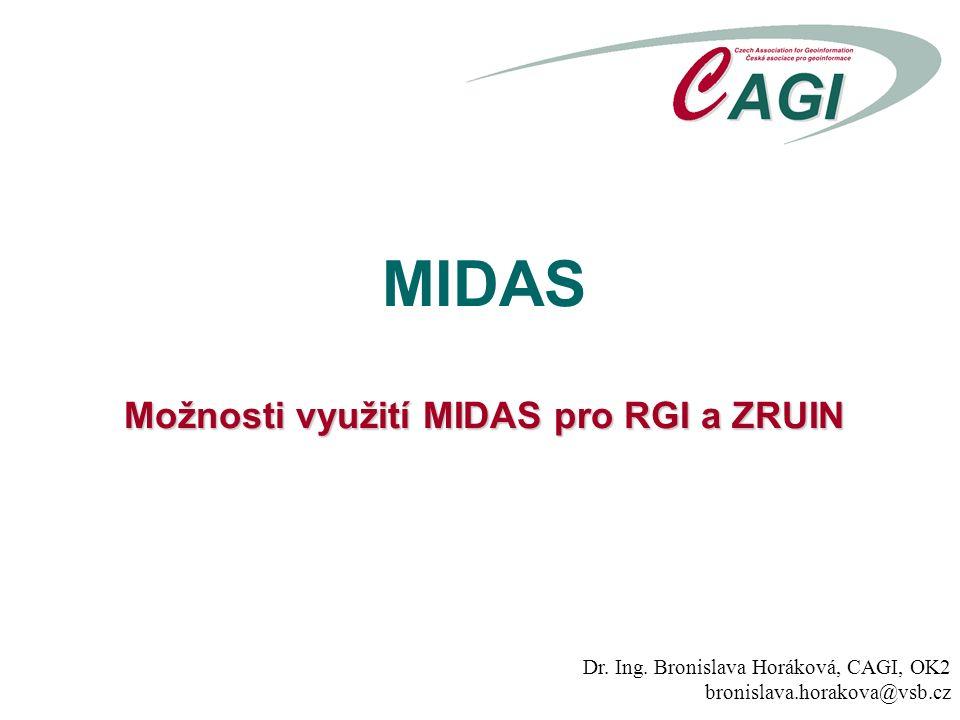 Možnosti využití MIDAS pro RGI a ZRUIN MIDAS Možnosti využití MIDAS pro RGI a ZRUIN Dr.