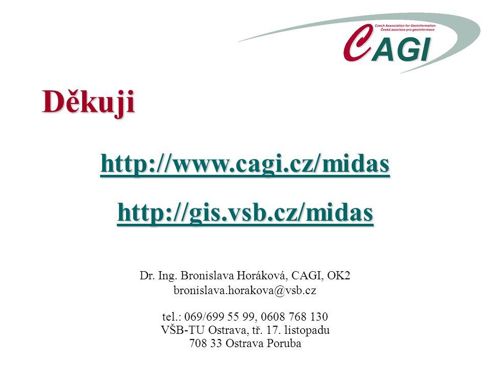 Děkuji http://www.cagi.cz/midashttp://gis.vsb.cz/midas Dr.