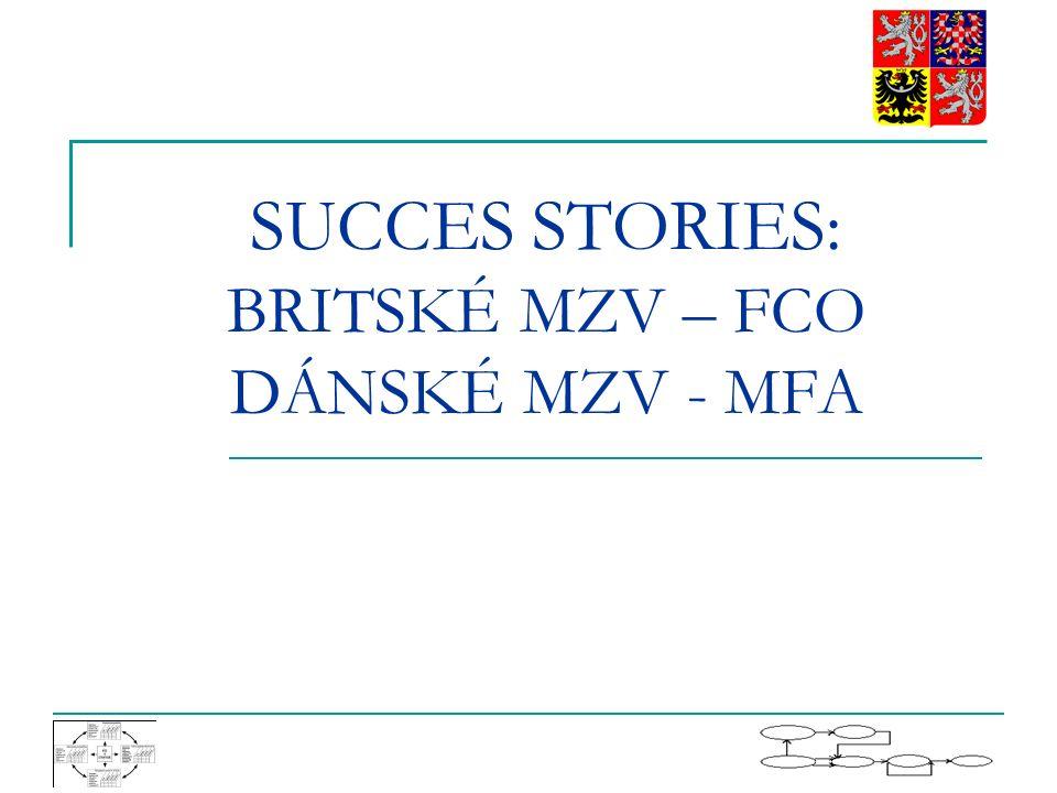SUCCES STORIES: BRITSKÉ MZV – FCO DÁNSKÉ MZV - MFA