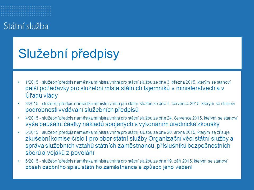 Metodické pokyny metodický pokyn náměstka ministra vnitra pro státní službu č.