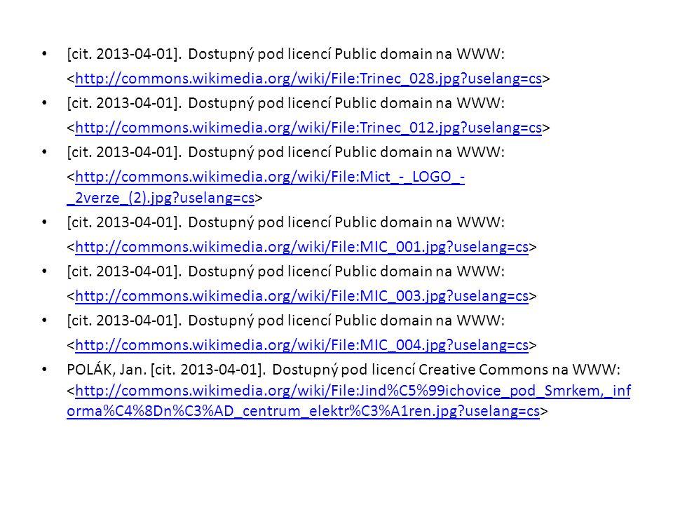 [cit. 2013-04-01]. Dostupný pod licencí Public domain na WWW: http://commons.wikimedia.org/wiki/File:Trinec_028.jpg?uselang=cs [cit. 2013-04-01]. Dost