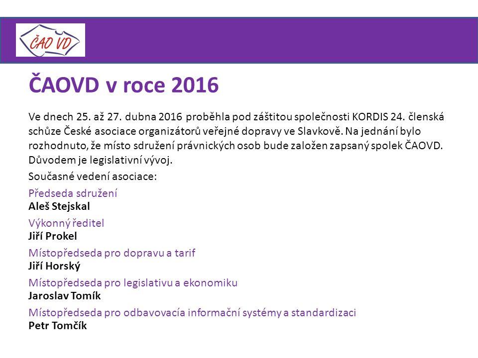 ČAOVD v roce 2016 Ve dnech 25.až 27. dubna 2016 proběhla pod záštitou společnosti KORDIS 24.