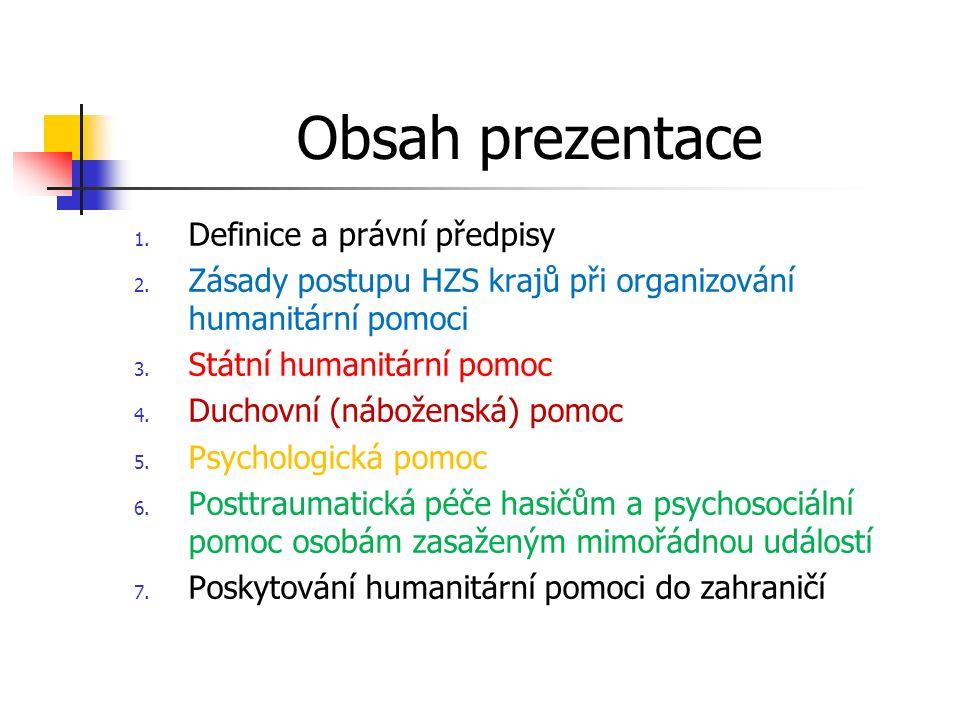 Obsah prezentace 1. Definice a právní předpisy 2.