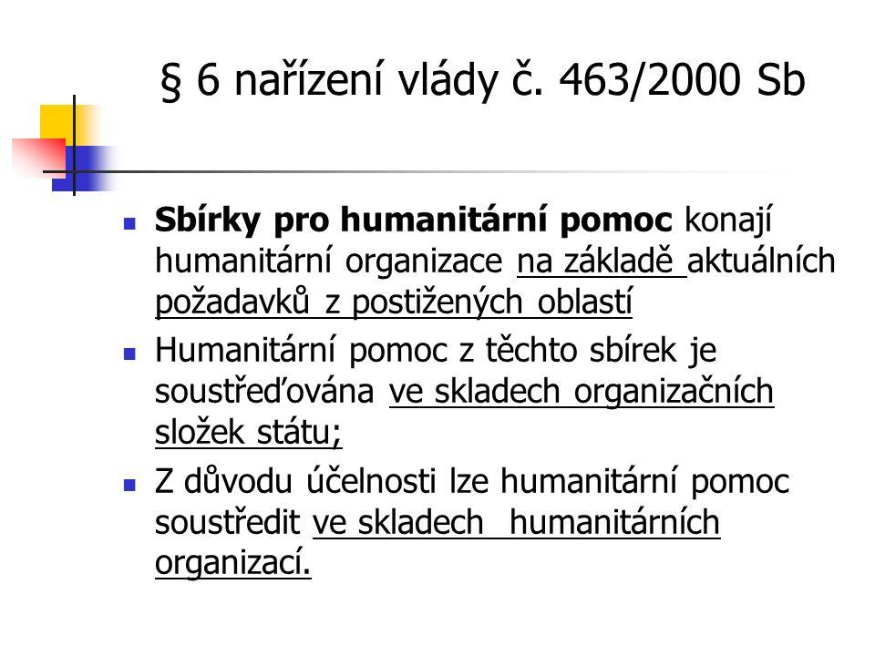 § 6 nařízení vlády č.