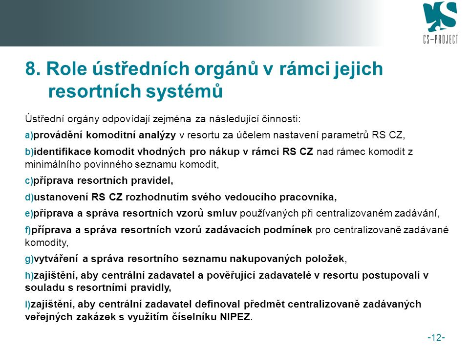 B. Nový systém e-tržišť pro veřejnou správu