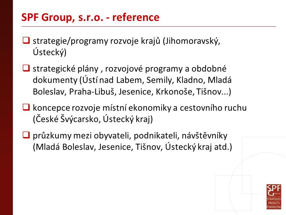 SPF Group, s.r.o. - reference  strategie/programy rozvoje krajů (Jihomoravský, Ústecký)  strategické plány, rozvojové programy a obdobné dokumenty (