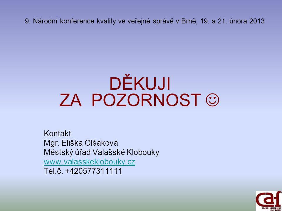 9. Národní konference kvality ve veřejné správě v Brně, 19.