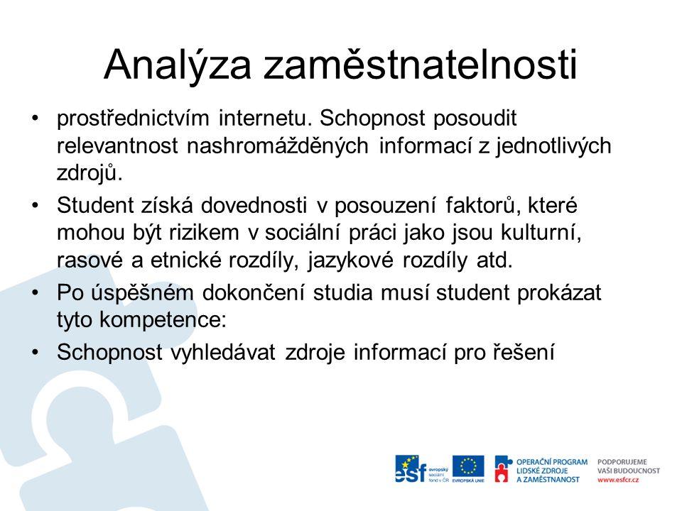 Analýza zaměstnatelnosti prostřednictvím internetu.