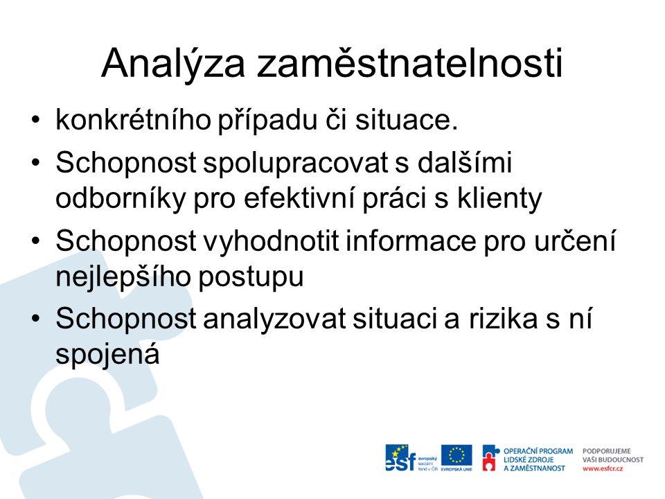 Analýza zaměstnatelnosti konkrétního případu či situace.