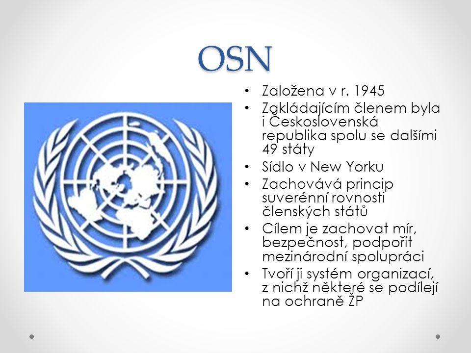 Program OSN pro ŽP (UNEP) vznikl v r.