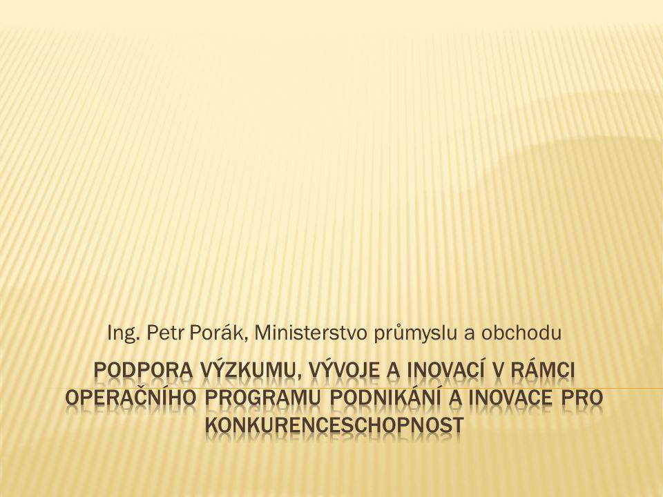 Ing. Petr Porák, Ministerstvo průmyslu a obchodu