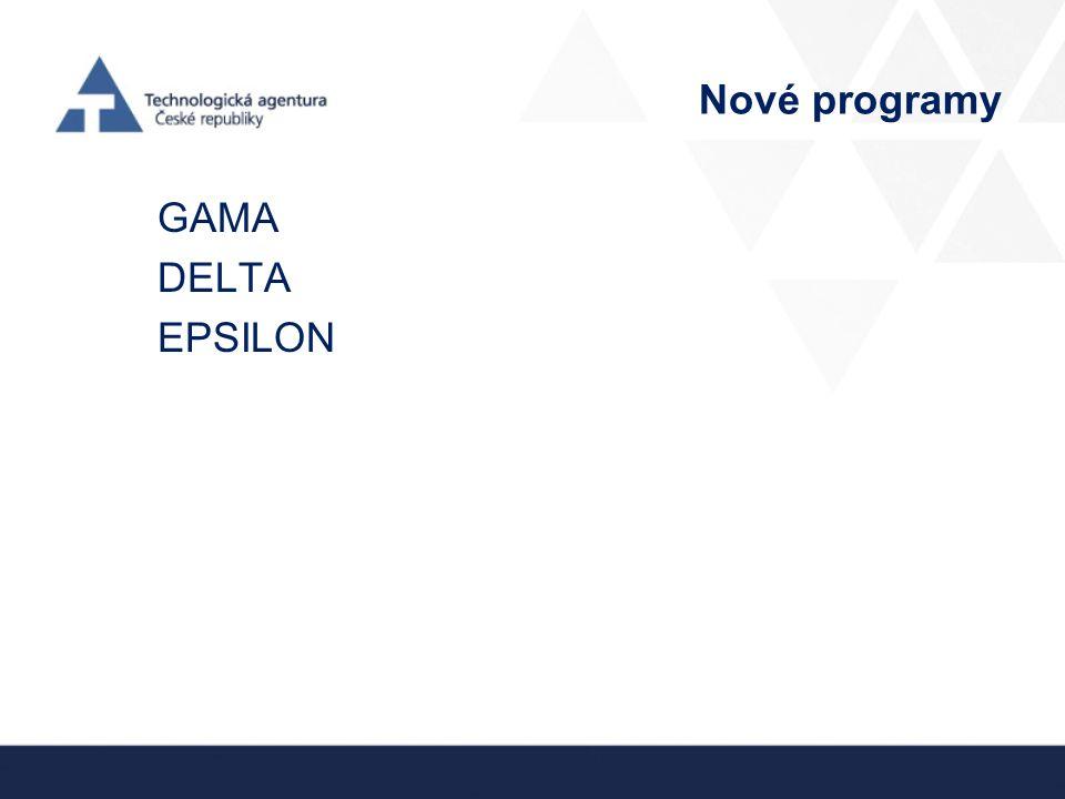 Nové programy GAMA DELTA EPSILON