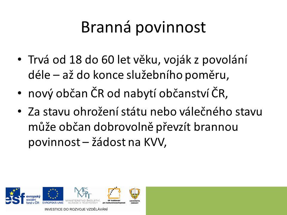 Ozbrojené síly ČR zákon č.