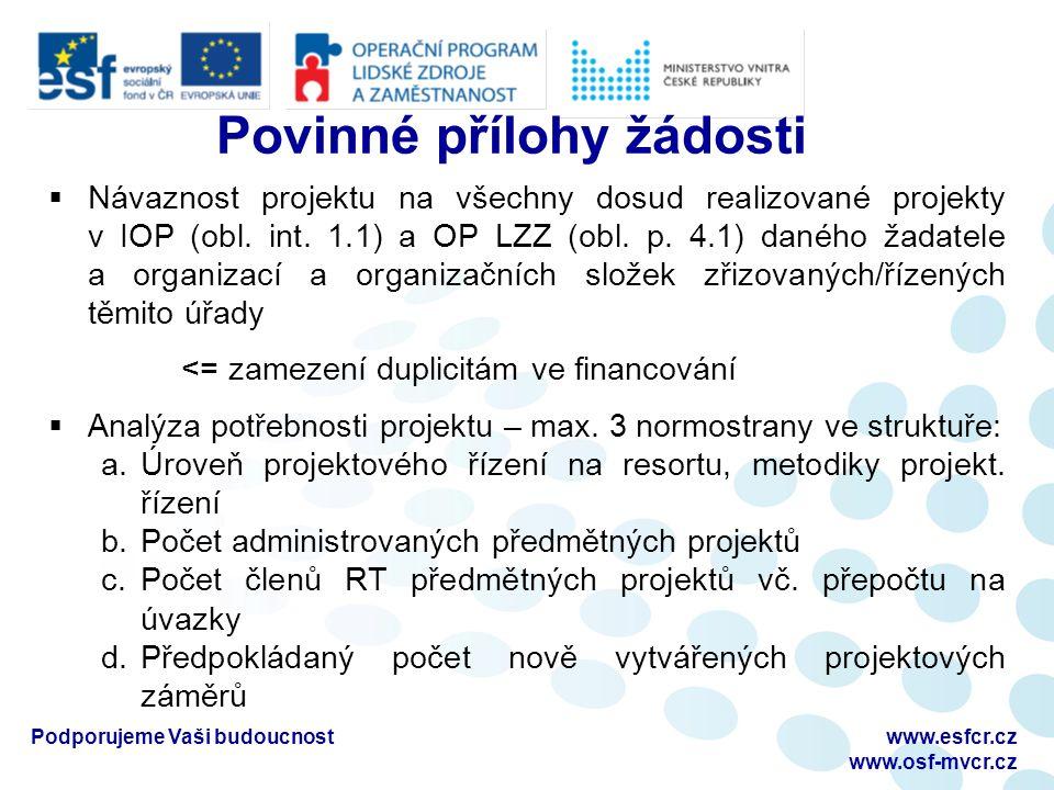 Podporujeme Vaši budoucnostwww.esfcr.cz www.osf-mvcr.cz Revize Operačního manuálu OP LZZ  Verze 1.9 platná od 1.