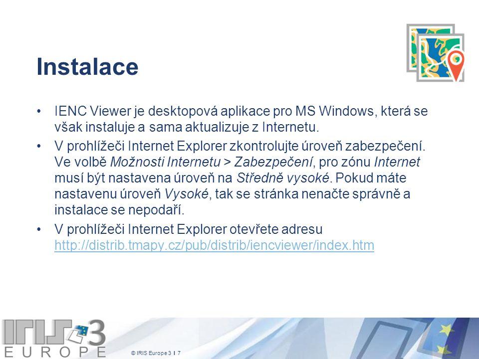 © IRIS Europe 3 I 48 NMEA zprávy Okno NMEA zprávy vypisuje aktuální zprávy, které do aplikace předává systém GPS a AIS Toto okno slouží především pro sledování stavu systému GPS, resp.