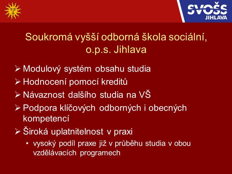 Soukromá vyšší odborná škola sociální, o.p.s.