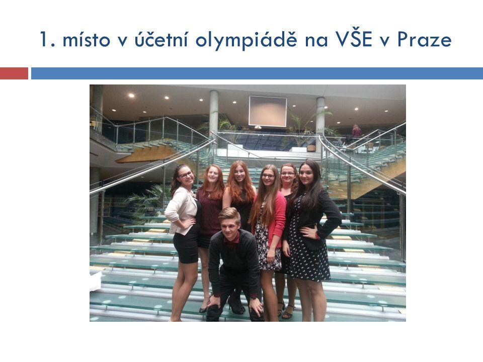 1. místo v účetní olympiádě na VŠE v Praze