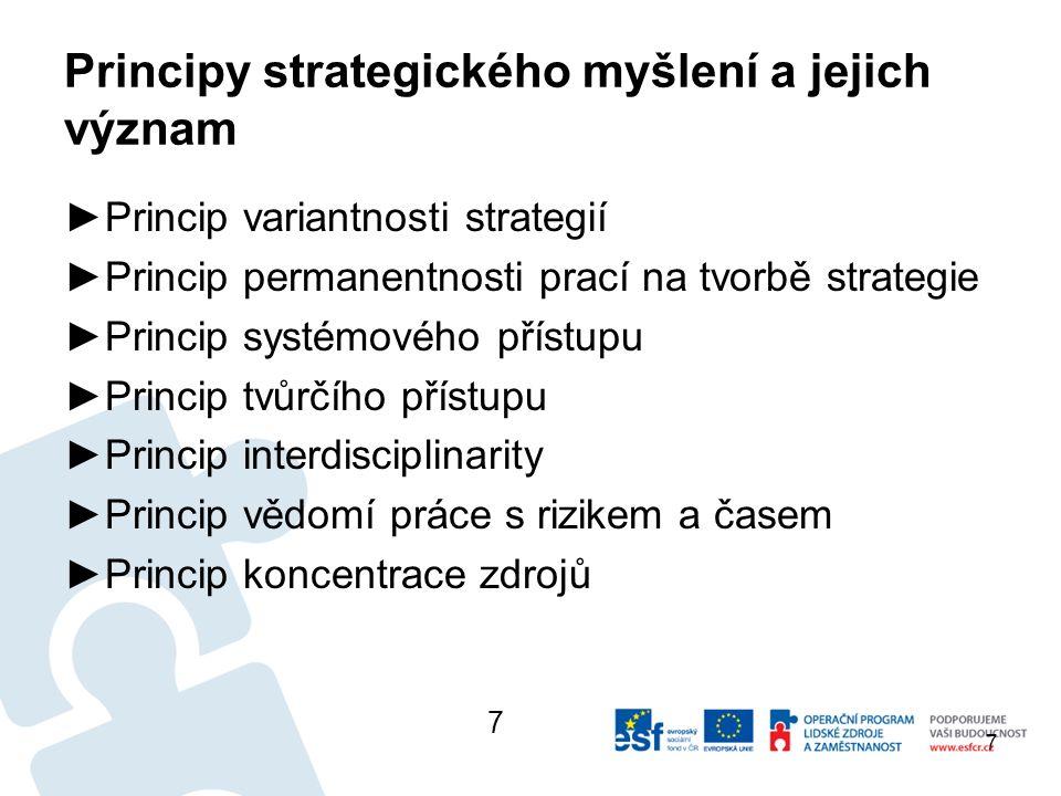 Strategické řízení ve veřejném sektoru ►Strategii lze ve veřejnoprávním sektoru chápat jako plán – krátkodobý (1-2 roky), středně (3-5 let) či dlouhodobý (nad 5 let) - pomocí kterého lze realizovat svoje rozvojové představy v území.