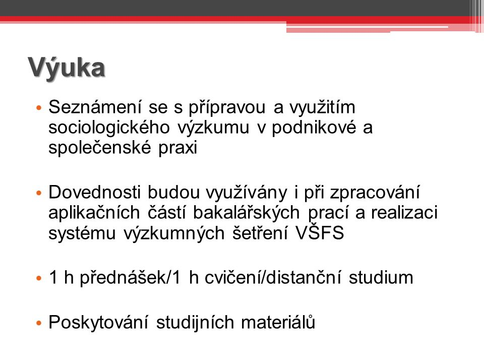 Projekt výzkumu – 5.