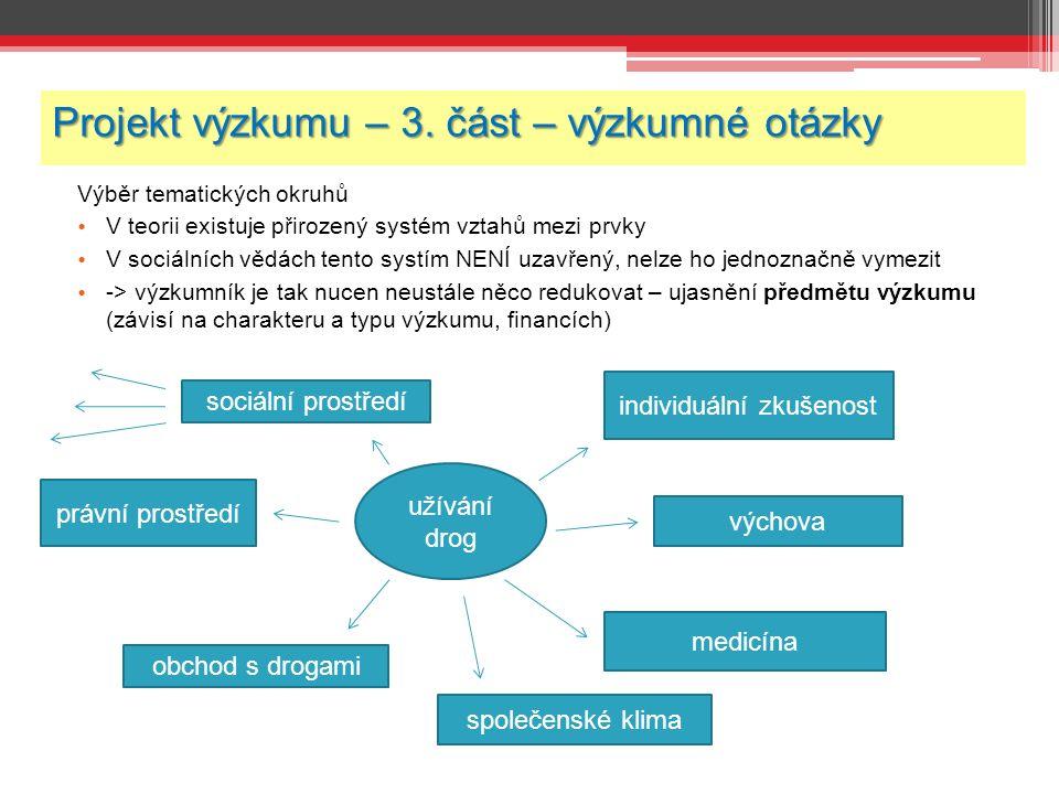 Projekt výzkumu – 3.