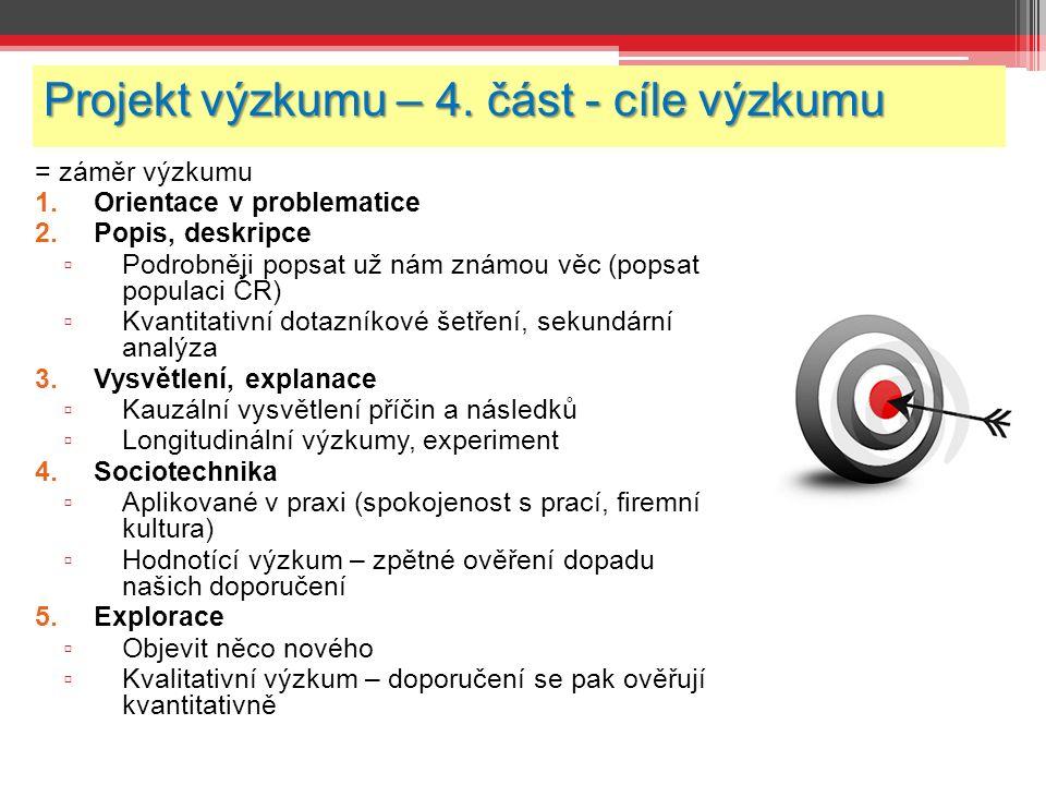 Projekt výzkumu – 4.