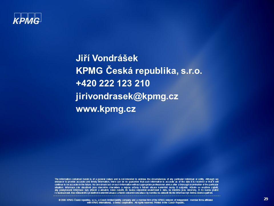 29 Jiří Vondrášek KPMG Česká republika, s.r.o.