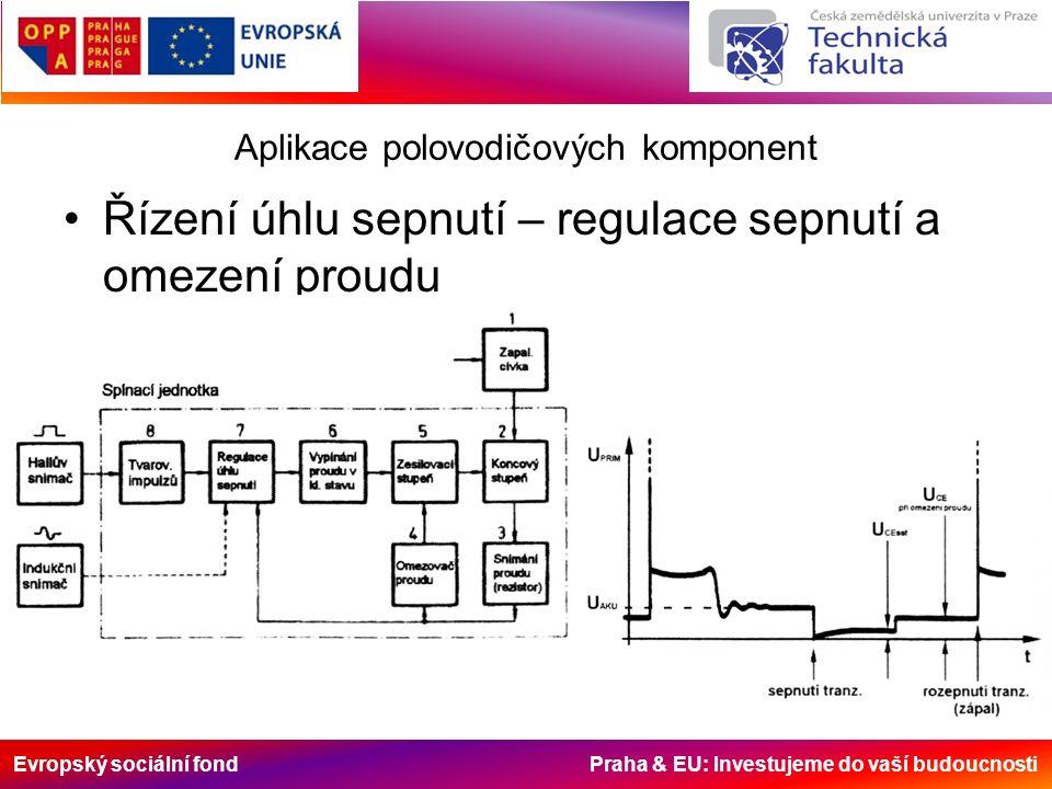 Evropský sociální fond Praha & EU: Investujeme do vaší budoucnosti Aplikace polovodičových komponent Řízení úhlu sepnutí – regulace sepnutí a omezení proudu