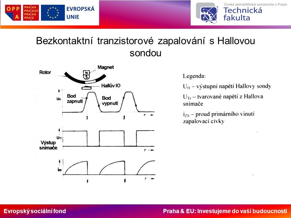 Evropský sociální fond Praha & EU: Investujeme do vaší budoucnosti Bezkontaktní tranzistorové zapalování s Hallovou sondou